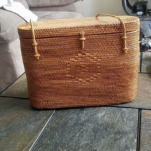 Vintage Style Wicker Hand Bag Putu By J. Maclear